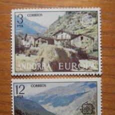 Sellos: SELLO - ANDORRA CORREO ESPAÑOL - EDIFIL 108, 109 - 1977 - SERIE EUROPA, ANSALONGA, XUCLAR - NUEVOS. Lote 245224690