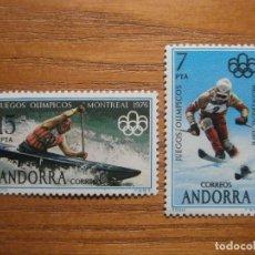 Sellos: SELLO - ANDORRA CORREO ESPAÑOL - EDIFIL 104, 105 - 1976 - SERIEE JUEGOS MONTREAL, REMO - NUEVOS. Lote 245224385