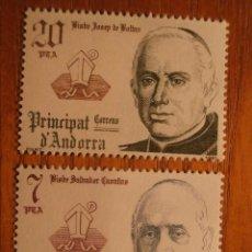 Sellos: ANDORRA CORREO ESPAÑOL - EDIFIL 146 Y 147 - 7 Y 20 PTA - 1981 SERIE CO-PRINCIPES EPISCOPALES, NUEVOS. Lote 245221960