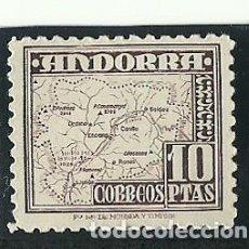 Sellos: ANDORRA , SELLO 10 PTS EDIFIL 57 , NUEVO CON SEÑAL MUY DÉBIL DE CHARNELA. Lote 209213188