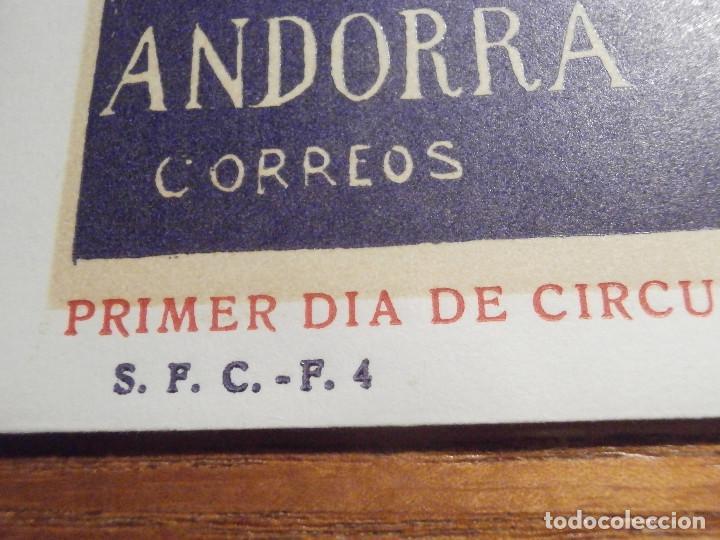 Sellos: SOBRE PRIMER DÍA CIRCULACIÓ - ANDORRA S.F.C.- F.4 1972 - EUROPA - 2-MAYO - EDIFIL 72 - Foto 2 - 209315421
