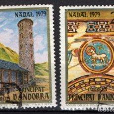 Sellos: ANDORRA 128/29 - AÑO 1979 - NAVIDAD - IGLESIA ROMANICA DE SANTA COLOMA. Lote 211719800