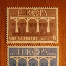 Sellos: ANDORRA CORREO ESPAÑOL - EDIFIL 179, 180 - 16 Y 38 PTA 1984 - EUROPA - NUEVOS -. Lote 277416728