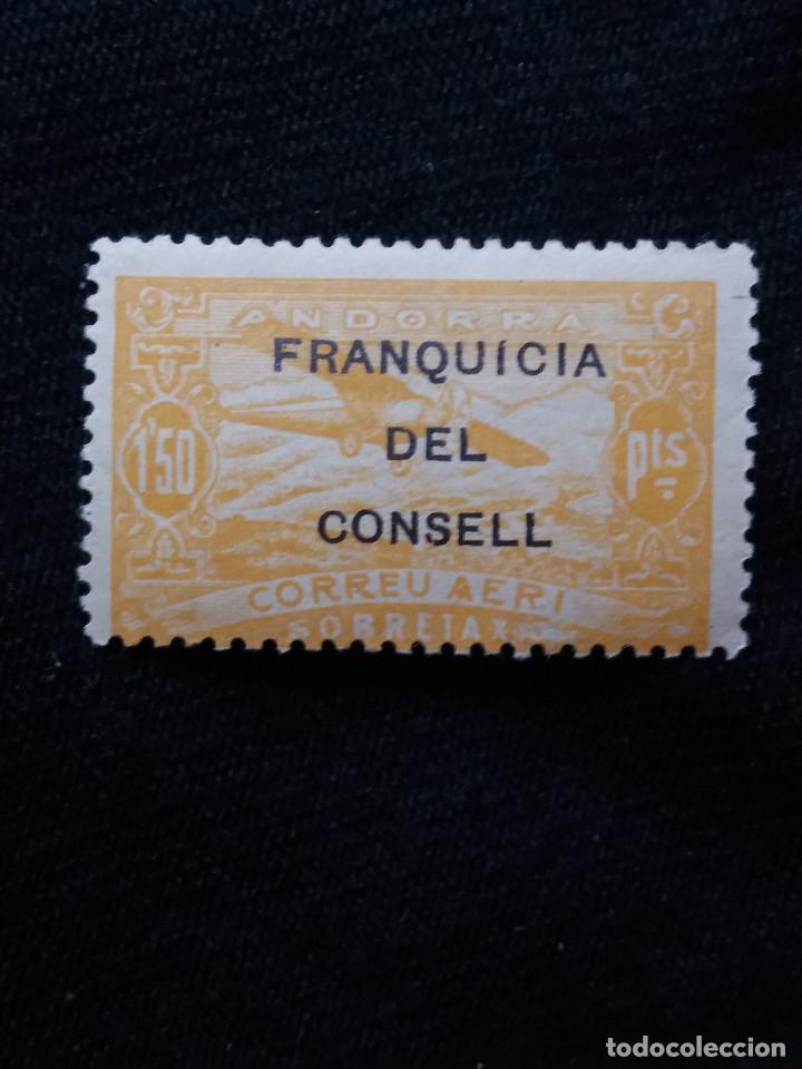 ANDORRA ESPAÑA, 1,50 PTAS, CORREO AEREO, AÑO,1932. NUEVO. SOBREESCRITO, (Sellos - España - Dependencias Postales - Andorra Española)