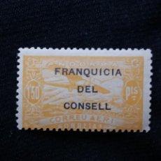 Sellos: ANDORRA ESPAÑA, 1,50 PTAS, CORREO AEREO, AÑO,1932. NUEVO. SOBREESCRITO,. Lote 213106106