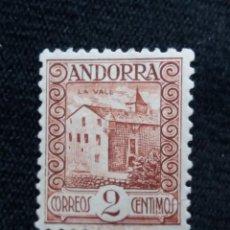 Francobolli: ANDORRA ESPAÑA, 2 CTS, LA VALL, AÑO,1937. NUEVO. CON CHARNELA. Lote 213106412