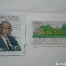 Sellos: LOTE DE 2 SELLOS DISTINTOS PRINCIPAT DE ANDORRA ATM SALVADOR ESPRIU CORREUS. Lote 213409740