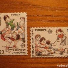 Sellos: ANDORRA CORREO ESPAÑOL - EDIFIL 213 Y 214 - 20 Y 45 PTA 1989 - JUEGO INFANTILES - NUEVOS - SERIE. Lote 213764116