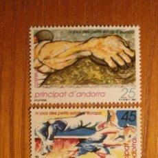 Sellos: ANDORRA CORREO ESPAÑOL - EDIFIL 223, 224 - 25 Y 45 PTA 1991 - IV JUEGOS PEQUEÑOS ESTADOS EU - NUEVO. Lote 213764172