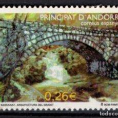 Sellos: ANDORRA 304** - AÑO 2003 - ARQUITECTURA DEL GRANITO - PUENTE SASSANAT. Lote 213783752