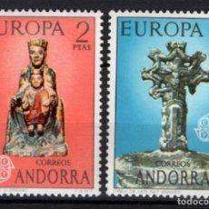 Sellos: ANDORRA 89/90** - AÑO 1974 - EUROPA CEPT - VIRGEN DE ORDINO. Lote 213783852
