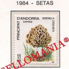 "Sellos: ""1984 NATURALEZA MURGA MUSHROOMS SETAS NATURE 181 ** MNH ANDORRA TC21895"". Lote 214437897"