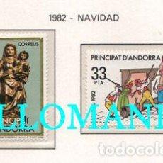 """Sellos: """"1982 NAVIDAD CHRISTMAS JUEGOS CHILDREN GAME 166 / 67 ** MNH ANDORRA TC21887"""". Lote 214437906"""