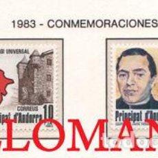 "Sellos: ""1983 JACINTO VERDAGUER SUFRAGIO UNIVERSAL SUFFRAGE 171 72 ** MNH ANDORRA TC21893"". Lote 214437907"