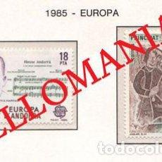 "Sellos: ""1985 EUROPA EUROPE ENRIC MARFANY JUGLAR MINSTREL 184 / 85 ** MNH ANDORRA TC21901"". Lote 214437912"