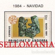 "Sellos: ""1984 NAVIDAD CHRISTMAS PESEBRE POPULAR MANGER BIRTH 183 ** MNH ANDORRA TC21899"". Lote 214437916"