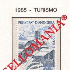 "Sellos: ""1985 TURISMO TOURISM PAL NIEVE SNOW NATURE MOUNTAINS 188 ** MNH ANDORRA TC21904"". Lote 214437932"