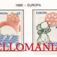 "Sellos: ""1986 EUROPA EUROPE CEPT VIDA MARINA MARINE FISH 191 / 92 ** MNH ANDORRA TC21906"". Lote 214437933"