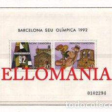 "Sellos: ""1987 OLIMPIADA BARCELONA 92 OLYMPICS ATHLETE 200 ** MNH HB SHEET ANDORRA TC21915"". Lote 214437937"