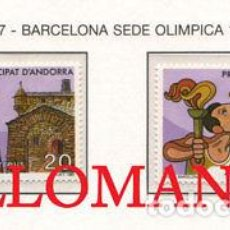 "Sellos: ""1987 OLIMPIADAS BARCELONA 92 OLYMPICS ATHLETES SH 200 A B ** MNH ANDORRA TC21914"". Lote 214437946"