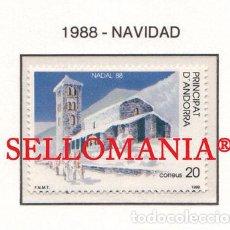 "Sellos: ""1988 NAVIDAD CHRISTMAS SANT JOAN DE CASELLES CHURCH 208 ** MNH ANDORRA TC21920"". Lote 214437947"