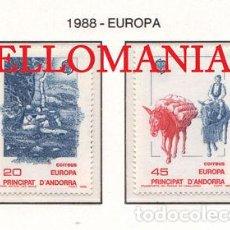"Sellos: ""1988 EUROPA EUROPE MEDIOS COMUNICACION MASS MEDIA 204 / 5 ** MNH ANDORRA TC21916"". Lote 214437953"