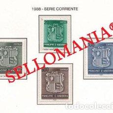 "Sellos: ""1988 ESCUDO COATS OF ARMS HERALDIC HERALDICA 209 / 212 ** MNH ANDORRA TC21921"". Lote 214437963"
