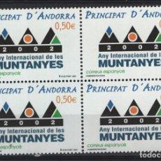 Sellos: .G-SUB_7/ ANDORRA ESPAÑOLA, EDIFIL 294 MNH**, MONTAÑAS 2002. Lote 215354710