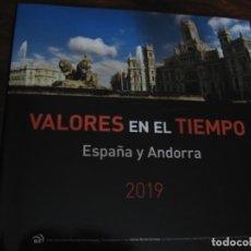 Sellos: LIBRO DE CORREOS VALORES EN EL TIEMPO ESPAÑA Y ANDORRA 2019. Lote 215953851