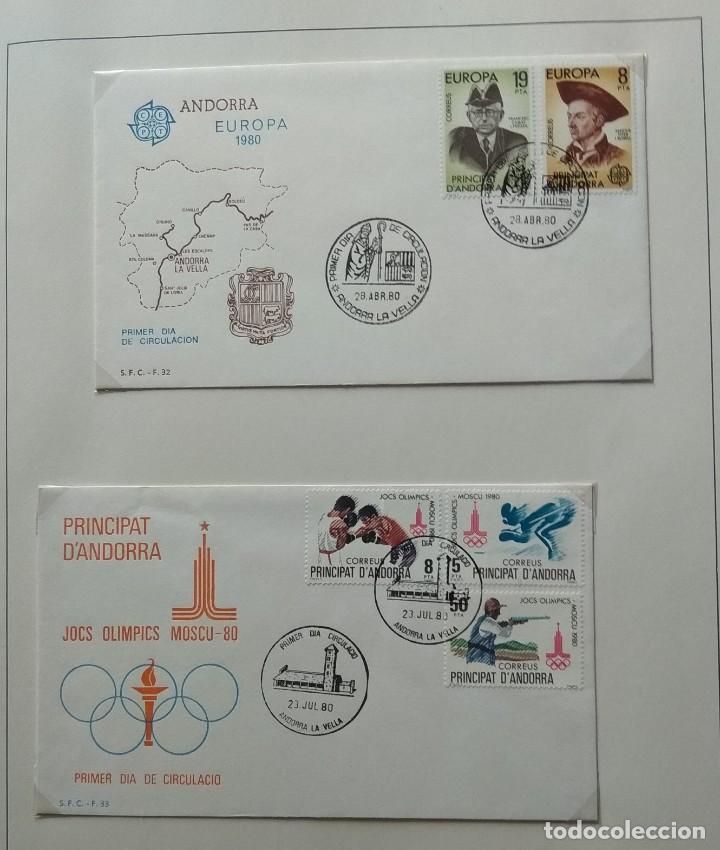 LOTE DE 93 SOBRES PDC DE ANDORRA. AÑOS 1980 A 1983, Y 1986 A 2000. VER FOTOS, FALTAN OTRAS. (Sellos - España - Dependencias Postales - Andorra Española)