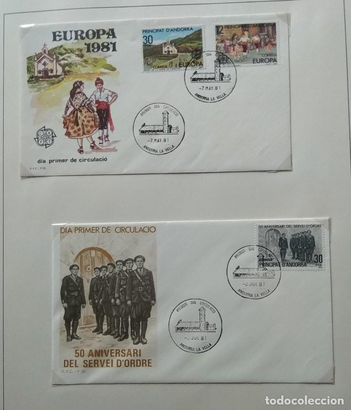Sellos: Lote de 93 Sobres PDC de Andorra. Años 1980 a 1983, y 1986 a 2000. Ver fotos, faltan otras. - Foto 3 - 216932680