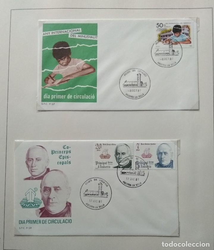 Sellos: Lote de 93 Sobres PDC de Andorra. Años 1980 a 1983, y 1986 a 2000. Ver fotos, faltan otras. - Foto 4 - 216932680