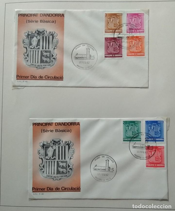Sellos: Lote de 93 Sobres PDC de Andorra. Años 1980 a 1983, y 1986 a 2000. Ver fotos, faltan otras. - Foto 6 - 216932680