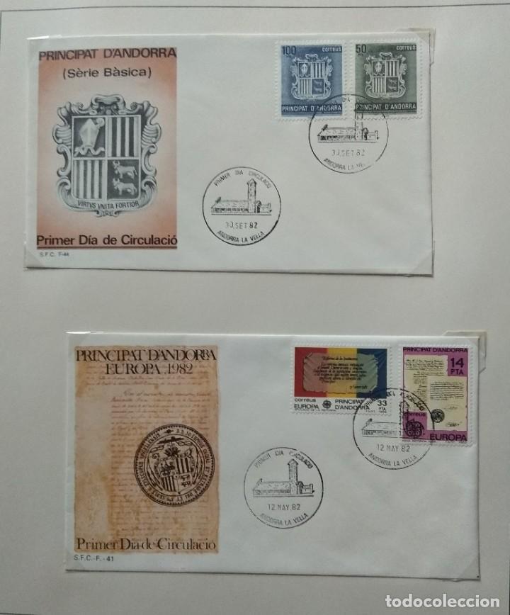 Sellos: Lote de 93 Sobres PDC de Andorra. Años 1980 a 1983, y 1986 a 2000. Ver fotos, faltan otras. - Foto 7 - 216932680