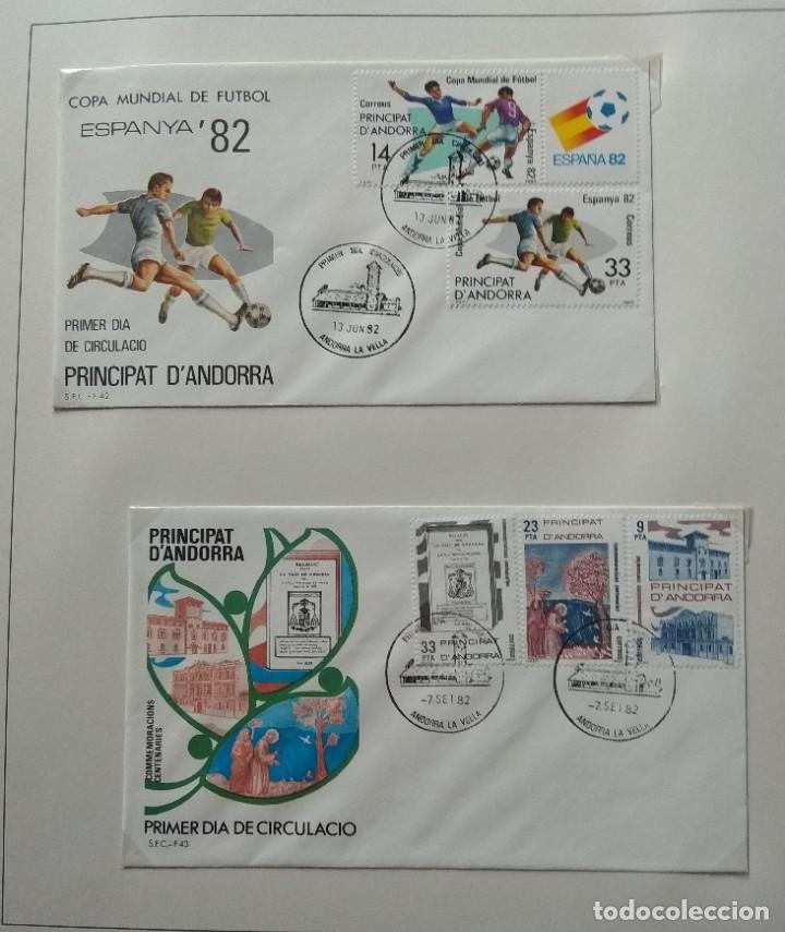 Sellos: Lote de 93 Sobres PDC de Andorra. Años 1980 a 1983, y 1986 a 2000. Ver fotos, faltan otras. - Foto 8 - 216932680