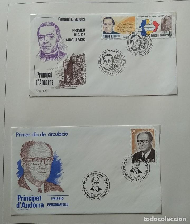 Sellos: Lote de 93 Sobres PDC de Andorra. Años 1980 a 1983, y 1986 a 2000. Ver fotos, faltan otras. - Foto 11 - 216932680