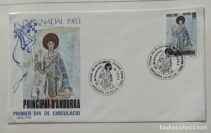 Sellos: Lote de 93 Sobres PDC de Andorra. Años 1980 a 1983, y 1986 a 2000. Ver fotos, faltan otras. - Foto 12 - 216932680