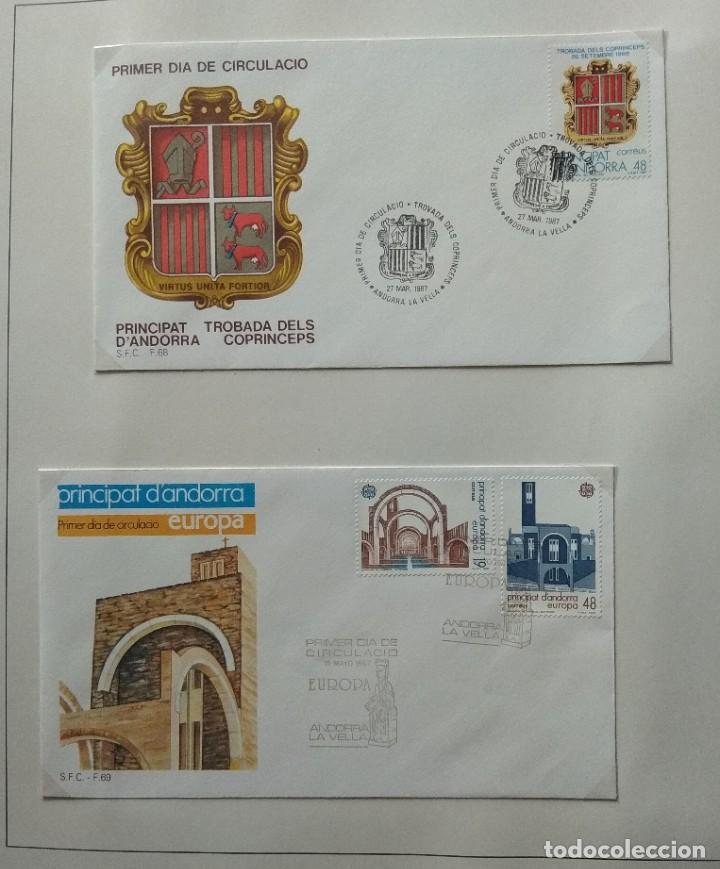 Sellos: Lote de 93 Sobres PDC de Andorra. Años 1980 a 1983, y 1986 a 2000. Ver fotos, faltan otras. - Foto 15 - 216932680