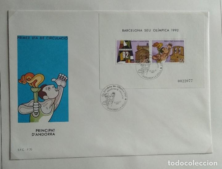 Sellos: Lote de 93 Sobres PDC de Andorra. Años 1980 a 1983, y 1986 a 2000. Ver fotos, faltan otras. - Foto 16 - 216932680