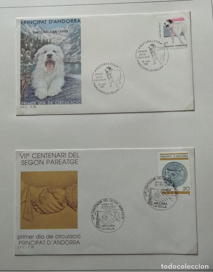 Sellos: Lote de 93 Sobres PDC de Andorra. Años 1980 a 1983, y 1986 a 2000. Ver fotos, faltan otras. - Foto 19 - 216932680