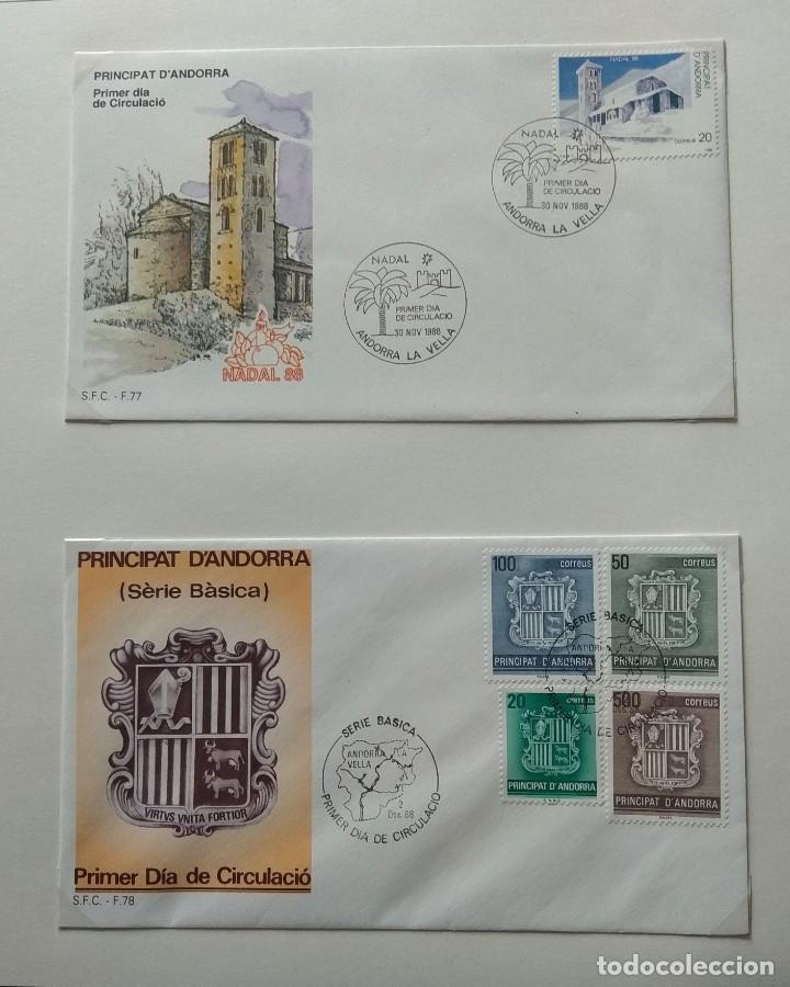 Sellos: Lote de 93 Sobres PDC de Andorra. Años 1980 a 1983, y 1986 a 2000. Ver fotos, faltan otras. - Foto 20 - 216932680