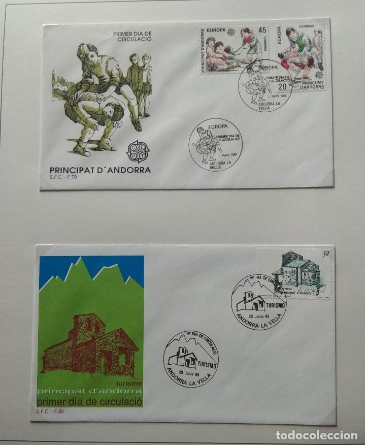 Sellos: Lote de 93 Sobres PDC de Andorra. Años 1980 a 1983, y 1986 a 2000. Ver fotos, faltan otras. - Foto 21 - 216932680