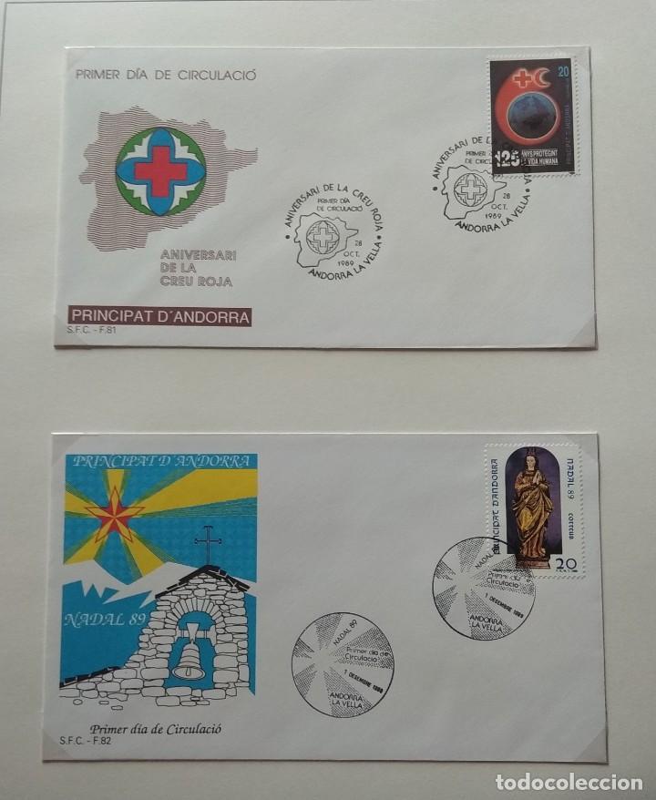 Sellos: Lote de 93 Sobres PDC de Andorra. Años 1980 a 1983, y 1986 a 2000. Ver fotos, faltan otras. - Foto 22 - 216932680