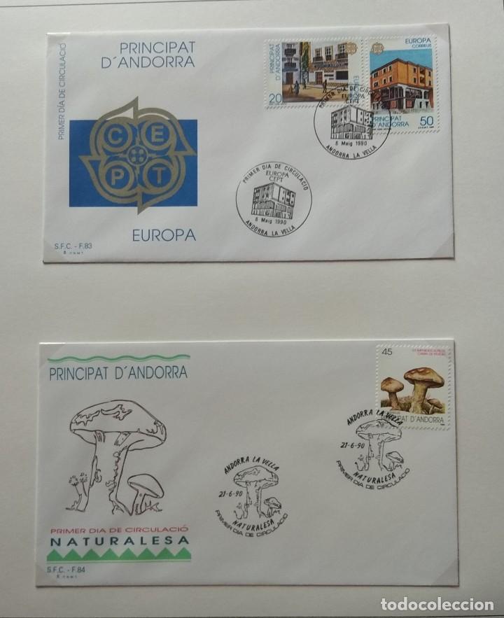 Sellos: Lote de 93 Sobres PDC de Andorra. Años 1980 a 1983, y 1986 a 2000. Ver fotos, faltan otras. - Foto 23 - 216932680