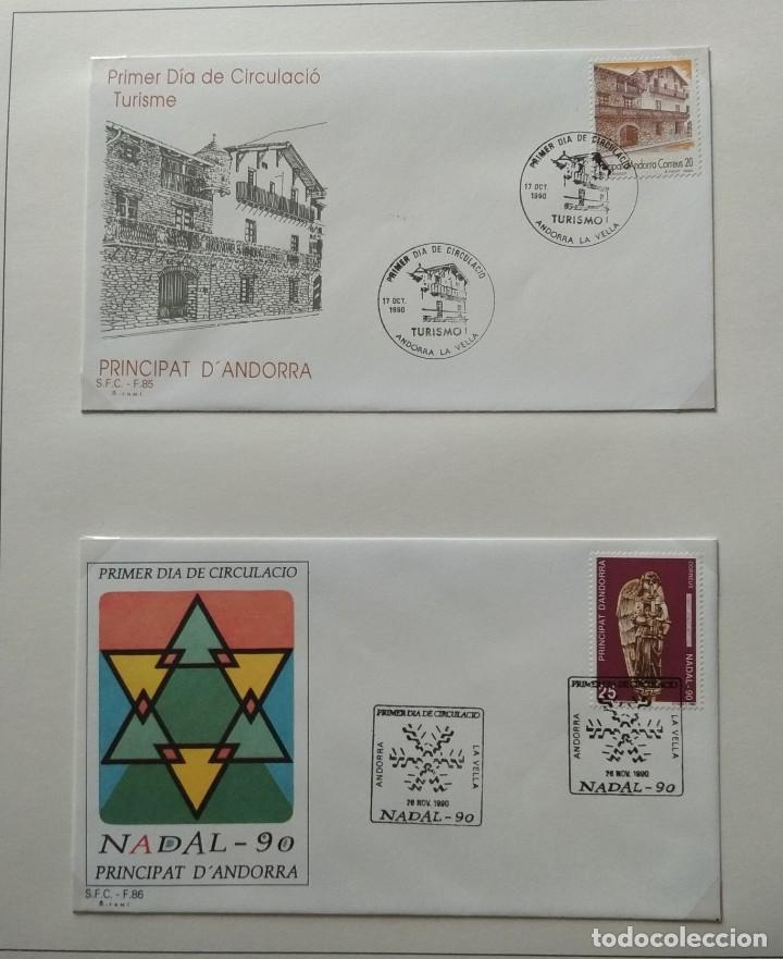 Sellos: Lote de 93 Sobres PDC de Andorra. Años 1980 a 1983, y 1986 a 2000. Ver fotos, faltan otras. - Foto 24 - 216932680