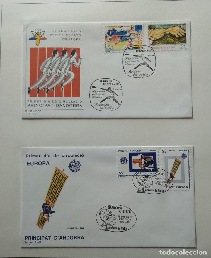 Sellos: Lote de 93 Sobres PDC de Andorra. Años 1980 a 1983, y 1986 a 2000. Ver fotos, faltan otras. - Foto 25 - 216932680