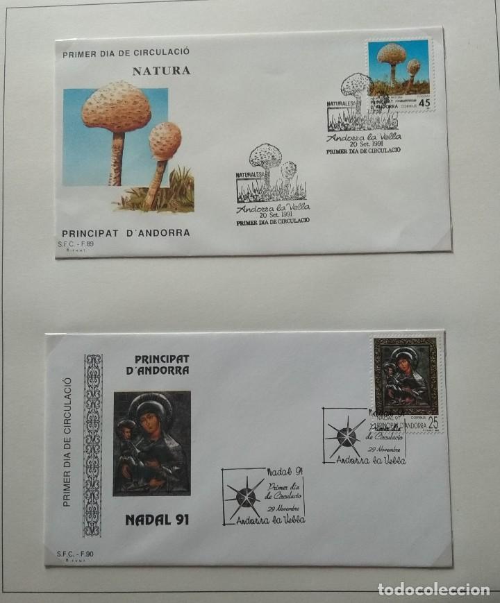 Sellos: Lote de 93 Sobres PDC de Andorra. Años 1980 a 1983, y 1986 a 2000. Ver fotos, faltan otras. - Foto 26 - 216932680