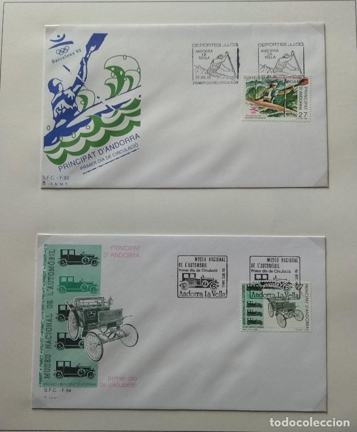 Sellos: Lote de 93 Sobres PDC de Andorra. Años 1980 a 1983, y 1986 a 2000. Ver fotos, faltan otras. - Foto 28 - 216932680