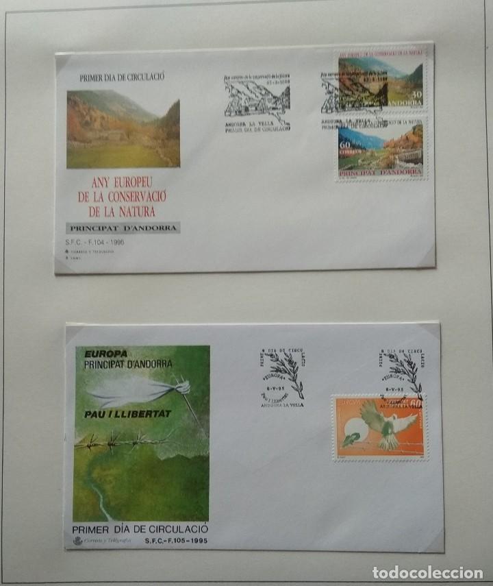 Sellos: Lote de 93 Sobres PDC de Andorra. Años 1980 a 1983, y 1986 a 2000. Ver fotos, faltan otras. - Foto 29 - 216932680