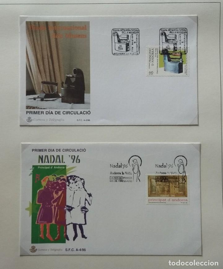 Sellos: Lote de 93 Sobres PDC de Andorra. Años 1980 a 1983, y 1986 a 2000. Ver fotos, faltan otras. - Foto 30 - 216932680